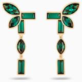 Boucles d'Oreilles « Ear-Jacket » Bamboo, vert, métal doré - Swarovski, 5535896