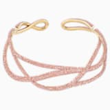 Ras-de-cou Tigris Statement, rose, métal doré - Swarovski, 5535900
