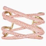 Tigris 阔手镯, 大码, 粉红色, 镀金色调 - Swarovski, 5535901