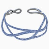 Tigris Statement Halsband, blau, rutheniert - Swarovski, 5535902
