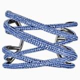Manchette Tigris, large, bleu, métal plaqué ruthénium - Swarovski, 5535906