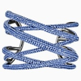 Tigris Cuff, Large, Blue, Ruthenium plated - Swarovski, 5535906