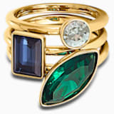 Bamboo 戒指套装, 深色渐变, 镀金色调 - Swarovski, 5535936