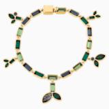 Bamboo Strand, Koyu renkli, Altın rengi kaplama - Swarovski, 5535938