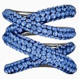 Tigris Wide Ring, Blue, Ruthenium plated - Swarovski, 5535952