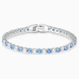 Braccialetto Tennis Deluxe, azzurro, placcato rodio - Swarovski, 5536469