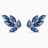 Τρυπητά σκουλαρίκια καρφιά Louison, μπλε, επιροδιωμένα - Swarovski, 5536549