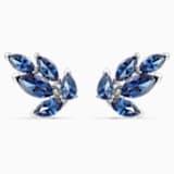 Boucles d'oreilles clous Louison, bleu, métal rhodié - Swarovski, 5536549