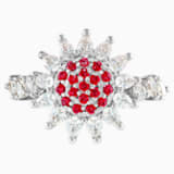 Botanical Yüzük, Kırmızı, Rodyum kaplama - Swarovski, 5536620