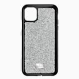 Glam Rock 스마트폰 범퍼 케이스, iPhone® 11 Pro Max, 실버 톤 - Swarovski, 5536650