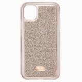 Pouzdro na chytrý telefon Glam Rock s ochranným okrajem, iPhone® 11 Pro Max, odstín růžového zlata - Swarovski, 5536651