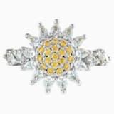 Botanical gyűrű, sárga, ródium bevonattal - Swarovski, 5536875