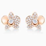 18K RG Dia Orchid Earrings - Swarovski, 5538156