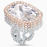 Prsten Eternal, bílý, povrch ze směsi kovů - Swarovski, 5538823