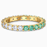 Vittore Half Кольцо, Зеленый Кристалл, Покрытие оттенка золота - Swarovski, 5539747