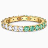 Vittore Half Кольцо, Зеленый Кристалл, Покрытие оттенка золота - Swarovski, 5539748