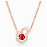 Full Blessing Hulu 项链, 红色, 镀玫瑰金色调 - Swarovski, 5539897