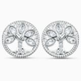 Swarovski Symbolic Tree of Life Stud Pierced Earrings, White, Rhodium plated - Swarovski, 5540301