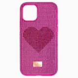 Pouzdro na chytrý telefon Crystalgram Heart s ochranným okrajem, iPhone® 11 Pro, růžové - Swarovski, 5540723