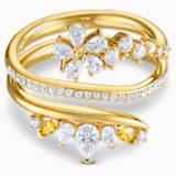 Botanical 戒指, 白色, 鍍金色色調 - Swarovski, 5542529