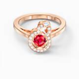 Full Blessing Hulu 戒指, 紅色, 鍍玫瑰金色調 - Swarovski, 5544154