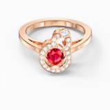 Full Blessing Hulu Ring, Red, Rose-gold tone plated - Swarovski, 5544154