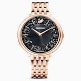 Ρολόι Crystalline Chic, μεταλλικό μπρασελέ, μαύρο, PVD σε χρυσή-ροζ απόχρωση - Swarovski, 5544587