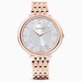 Cristalline Chic Uhr, Metallarmband, roséfarben, rosé vergoldetes PVD-Finish - Swarovski, 5544590