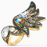 Shimmering Ring, mehrfarbig dunkel, Metallmix - Swarovski, 5545798