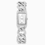 Reloj Cocktail, brazalete de metal, tono plateado, acero inoxidable - Swarovski, 5547617