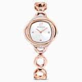Reloj Crystal Flower, brazalete de metal, tono oro rosa, PVD tono oro rosa - Swarovski, 5547626