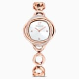 Montre Crystal Flower, bracelet en métal, or rose, PVD doré rose - Swarovski, 5547626