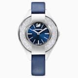 Ρολόι Crystalline Sporty, δερμάτινο λουράκι, μπλε, ανοξείδωτο ατσάλι - Swarovski, 5547629