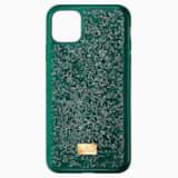 Custodia per smartphone con bordi protettivi Glam Rock, iPhone® 11 Pro, verde - Swarovski, 5549939