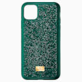 Glam Rock Smartphone Case with Bumper, iPhone® 11 Pro, Green - Swarovski, 5549939