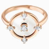 North Ring, White, Rose-gold tone plated - Swarovski, 5551801