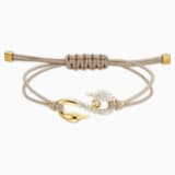 Braccialetto Swarovski Power Collection Hook, beige, Placcato in color oro - Swarovski, 5551806