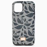 Θήκη για smartphone Swarovski Swanflower με προστατευτικό, iPhone® 11 Pro Max, μαύρη - Swarovski, 5552793