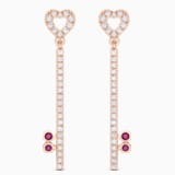 18K RG LockMyHeart Key Earrings (Ruby) - Swarovski, 5555951