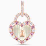 锁定我爱18K玫瑰金粉紅藍寶石貝殼钻石链坠 - Swarovski, 5555952