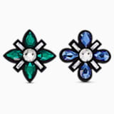 Swarovski Shoe Clips, Multicolored, Rhodium plated - Swarovski, 5556462