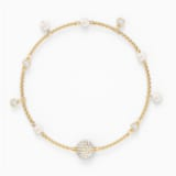 Swarovski Remix Collection Delicate Pearl Strand, White, Gold-tone plated - Swarovski, 5556904
