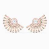 Swarovski Sparkling Dance Dial Up Pierced Earrings, Gray, Rose-gold tone plated - Swarovski, 5558190