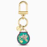 Togetherness Key Ring, Blue, Gold-tone plated - Swarovski, 5559822