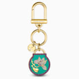 Togetherness Key Ring, Blue, Gold-tone plated - Swarovski, 5559822