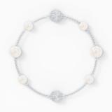 Αλυσίδα strand Pearl από τη Συλλογή Swarovski Remix, λευκή, επιροδιωμένη - Swarovski, 5560665