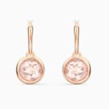 Tahlia Mini Hoop Pierced Earrings, Pink, Rose-gold tone plated - Swarovski, 5560932