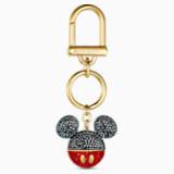 Κόσμημα τσάντας Mickey, μαύρο, επιχρυσωμένο - Swarovski, 5560954