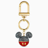 Mickey Bag Charm, Black, Gold-tone plated - Swarovski, 5560954