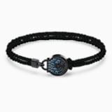 Togetherness Lock 手链, 黑色, 黑色 PVD 电镀 - Swarovski, 5561596